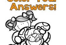 Fern Smith's Color Your Answers Printables / Fern Smith's Color Your Answers Printables at TeachersPayTeachers! #Paid and #Free http://www.teacherspayteachers.com/Store/Fern-Smiths-Classroom-Ideas  / by Fern Smith