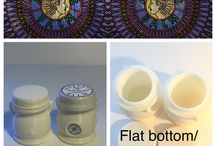 New 3D printed compostible jars DIY crafts beauty / These are our newest designs that we 3D print out of poly lactic acid, a compostible plastic.