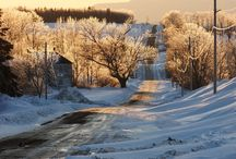 """Houlton Maine Down Town In Winter / Aroostook County Seat, Houlton Maine The """"Shiretown"""""""