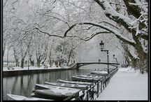 """The Venice of the Alps ? / Annecy has been nicknamed """"the Venice of the Alps"""" due to the three rivers that runs through the old part of the city...Welcome on board !"""