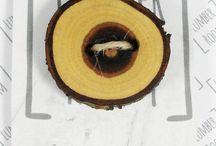 Drewniane guziki Lumber Room, Wooden buttons / Ręcznie robione guziki z drewna, rękodzieło artystyczne