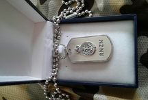 RNZN DOG TAGS by Steven Mark Gaskell 3signets
