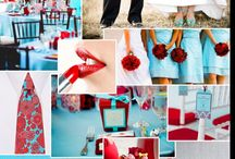 Turquoise and Red Wedding Inspiration