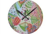 Modern Creative Wall Clocks / Add color and style to any room in an instant with a creative, artistic wall clock!  Good vibes abound in these lovely, creative designs and beautiful color combos.