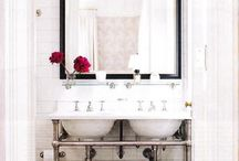 Pedestal Sink Inspiration / Pedestal Sinks & Basins continue to grow in popularity as people find solutions for small spaces, classic design - or simply because they love them!