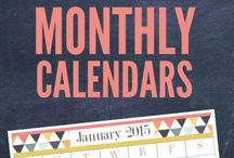 Free Printables: Weekly/Yearly Calendars