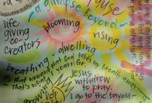 """Journaling the Way / This board contains journaling images created during """"Following the Way,"""" a 28-week journey with the Great Commandment.  We spend 7 weeks in each area of heart, soul, mind and strength, as we seek to love God and neighbor."""