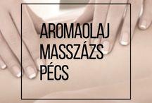 Aromaolajos Masszázs Pécs / Triggerpontos hát, váll és nyakmasszázs, relax testmasszázs, finomolajos arcmasszázs.