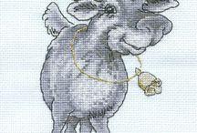 zwierzęta-cross stich