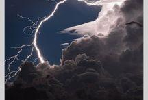 sky, lightning & storms