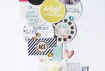 Scrapbook Ideas - Circles / Layouts featuring circles