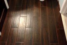 Hardwood tile floors