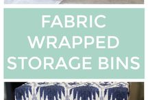 Storage bins in fabric
