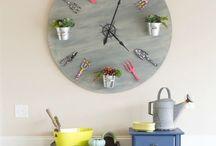 Ρολόι με γλαστράκια