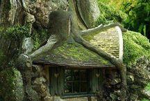 Kabouterhuisje in tuin
