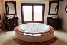 Modern day bathrooms / Bathroom designs for any home that is current to today's trends. Also, some great places to find the best prices on everything bathroom!