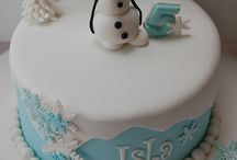 frozen theme cakes
