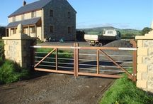 Dorset Gate / Our traditionally designed gates made from Iroko or Oak with a metal bar.
