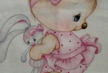 pinturas em tecido  fraldas