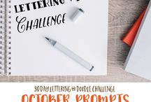 Hand lettering, typo, journaling, diary