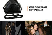 Bambi black cross bag