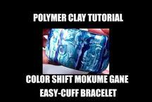 Polymer clay   ( mokume gane tutorials  )