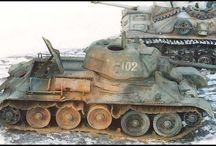 vehicules sovietiques à chenilles / maquette