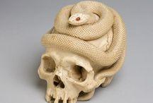 Skull / Ivory Netsuke