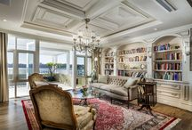 Hamptons - Custom Home / Built over four levels and boasting sensational Swan River views, this detailed Hamptons-inspired masterpiece also draws on several other design styles to give individual rooms their own character and personality.  Winner of the 2013 HIA Residential Building Designer of the Year