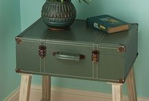 vintage tables and storage ideas