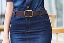 vestidos en jean