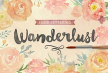 Wanderlust #Font / Wanderlust letters is a beautiful hand painted script that comes with a set of extras. All letters have been carefully painted giving your words a wonderful flow. Wanderlust can be used for fashion, apparel, stationery, magazines, film, books and marketing.  http://www.myfonts.com/fonts/cultivated-mind/wanderlust-letters/