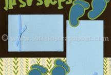 Firsts steps scrapbook page