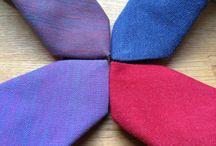Denim Slim Ties / Fresh denim slim ties made of vegan fabrics - mostly from cotton and bio cotton.