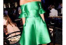 Solange knowles green dress pink heels