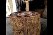 Solid Wood Accent Tables / Beautiful solid wood accent tables.