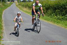 Course cyliste de Blou (49) / Dominique DESCAMPS (AC-TOURAINE) à la course cycliste de BLOU