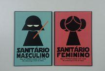 pictogramas masculino e feminino
