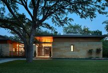 Strait Lane / Located on prestigious Strait Lane in Dallas, Texas, this regional contemporary residence nestles and wraps its roots throughout the mature oak trees, appearing as if it has been merged to this site for quite some time in this beautiful, unpredictable park-like setting.