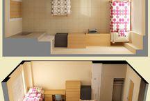 kamar kost/dorm/room