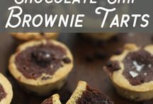 Chocolate chip brownie tart