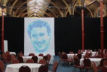 Dublin: Marc Zuckerberg Portrait (2012) / Created by Andreas Kopp @Dublin Websummit  post-its on paper, X colors, x   http://www.postitartcreators.com / by Post it ART CREATORS