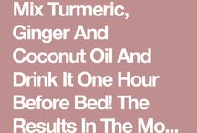 turmeric coconut oil and ginger