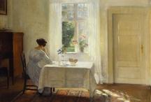 arte - Carl Vhielm Holsoe (1863-1935) / arte - pittore danese