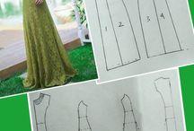 pola gaun potongan princes