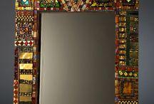 Mosaic mirror frames