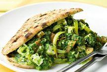 Naanbrood met spinaziecurry