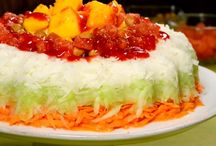 rosca de verduras y chamoy