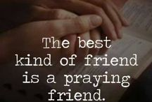 Praying friends