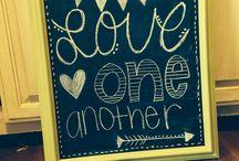 Chalkboard art / by Maggie Johnson